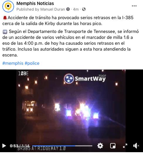 Accidente de tránsito provoca serios retrasos en la I-385 cerca de la salida de Kirby | Local by Facundo Valdez