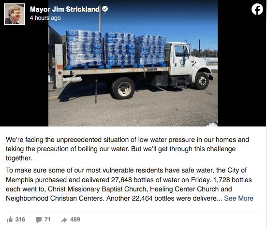 La ciudad de Memphis repartirá miles de botellas de agua a los residentes   Local by Memphis Noticias