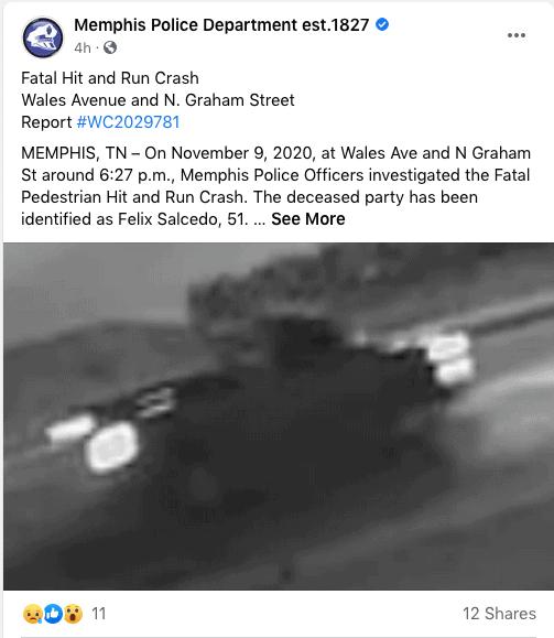 Autoridades piden ayuda para dar con el responsable de atropellar a hispano en Wales Avenue | Local by Memphis Noticias