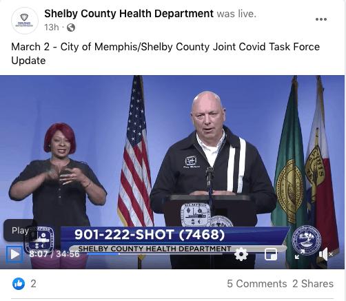 Funcionarios de salud dicen que el objetivo es vacunar a 700.000 en el condado de Shelby para agosto   Local by Memphis Noticias