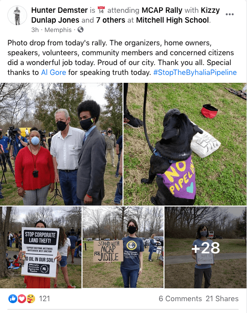 Cientos de personas se manifiestan en contra del Oleoducto Byhalia | Comunidad by Memphis Noticias