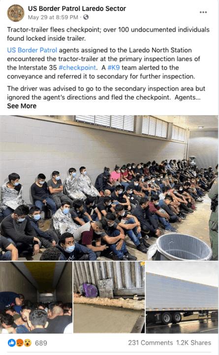 Encuentran a más de 100 inmigrantes indocumentados dentro de un camión en la frontera; entre ellos 7 niños que viajaban solos | Noticia by Memphis Noticias