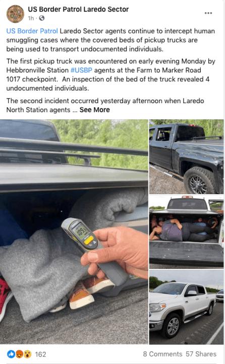 Descubren a 13 inmigrantes indocumentados en la maletera de una camioneta   Noticia by Memphis Noticias