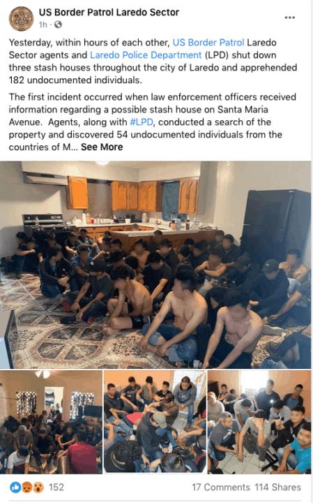 Descubren escondites con más de 180 inmigrantes indocumentados en la frontera   Noticia by Memphis Noticias