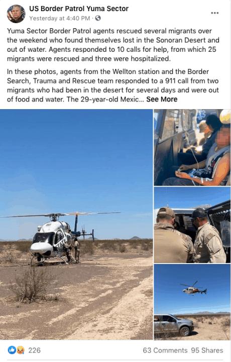 Rescatan a más de 20 migrantes que estaban perdidos y sin agua en la frontera; tres de ellos tuvieron que ser hospitalizados | Inmigración by Memphis Noticias