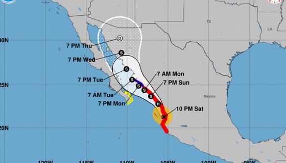 Huracán Nora toca tierra cerca de Puerto Vallarta y amenaza zonas turísticas de Baja California   Featured by Memphis Noticias