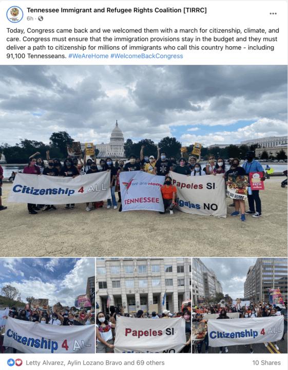 Marcha por reforma migratoria en Washington deja sensación de esperanza en la comunidad inmigrante | Noticia by Memphis Noticias