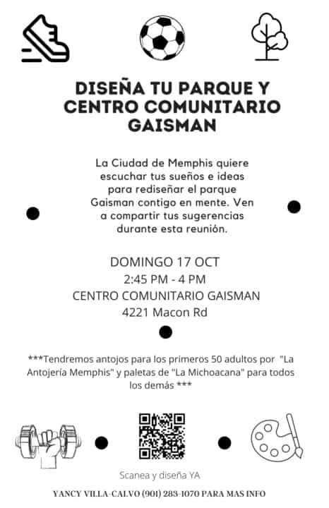 Diseña tu parque y centro comunitario Gaisman | Comunidad by Memphis Noticias