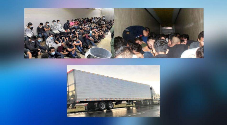 Inmigrantes detenidos en la frontera