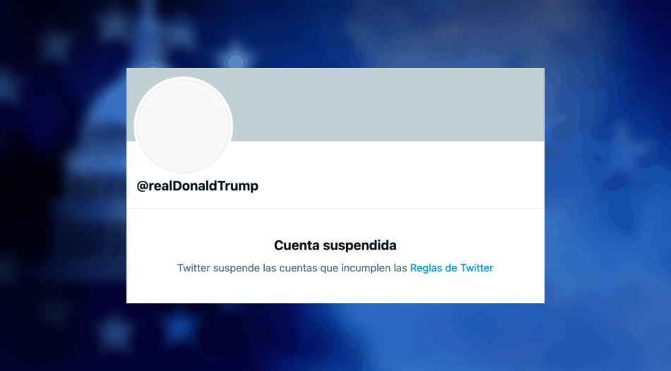 Twitter borra cuenta de Trump